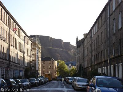 Looking up Montague St, Ediburgh