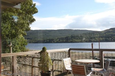 We had lunch at this cafe on Loch Venachar