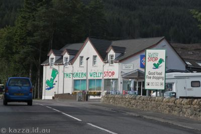 The Green Welly Stop at Tyndrum