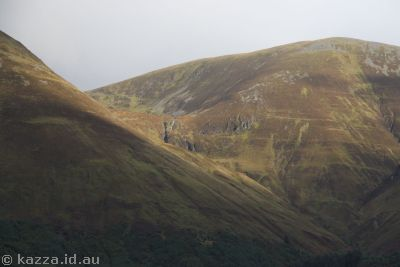 Hills next to Loch Lochy