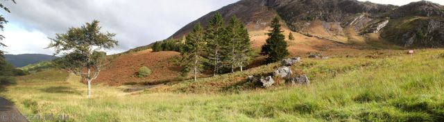 Hill behind Clachaig Inn where Hagrid's Hut was built