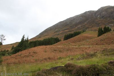 Hill behind Clachaig Inn where Hagrid's Hut was built for Prisoner of Azkaban