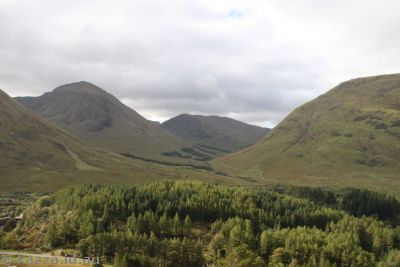This shot of the highlands is clearly visible in the movie