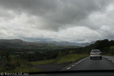 Heading for the Lakes District.  On the A66 near Threlkeld