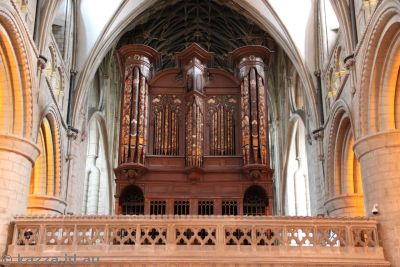 Organ in Gloucester Cathedral