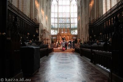 Quire in Gloucester Cathedral