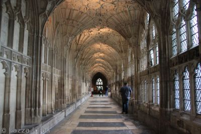 Cloisters in Gloucester Cathedral