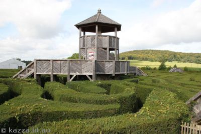 Longleat Maze.  The objective is to get to that tower in the   middle