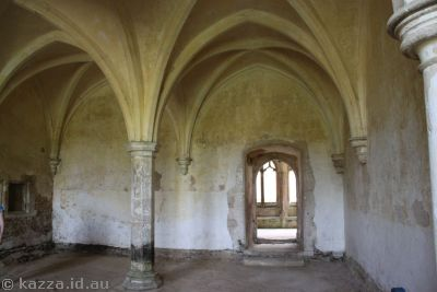 Sacristy of Lacock Abbey.  This room was used in Philosopher's   Stone as Snape's potions room
