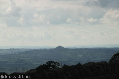 Glastonbury Tor from the A39 north of Wells