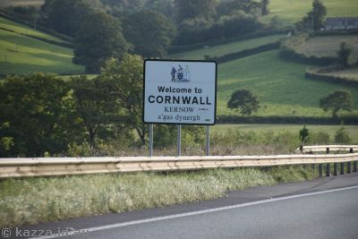 Welcome to Cornwall!  Stu was pretty excited to see this