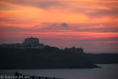 Sunset at Newquay