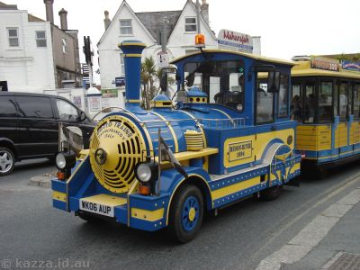Tourist train in Newquay