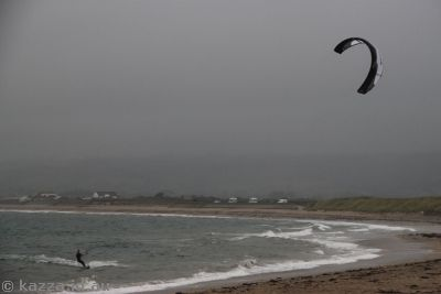 At least the parachute wind surfers were having fun