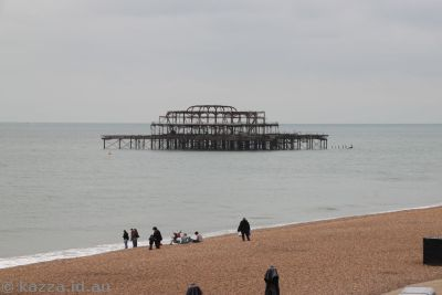 West Pier at Brighton, finally destroyed by fire in 2003