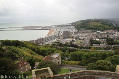 View of Dover from the top of the castle