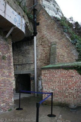 Entrance to the tunnels
