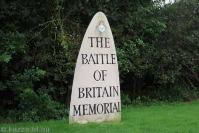 Battle of Britain Memorial sign