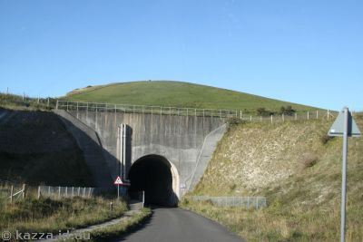 Heading down to the tunnel to the Chunnel landfill