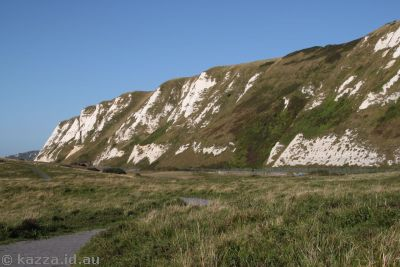 White Cliffs of Dover from the Chunnel landfill