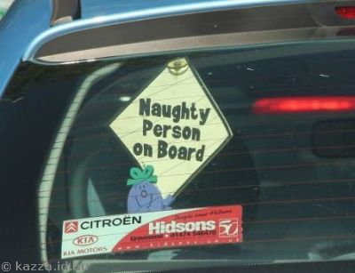 Naughty person on board!