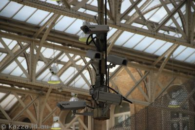 Security cameras at Charing Cross station