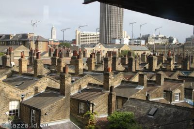 Rows of houses outside Waterloo station