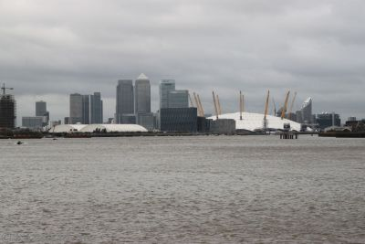 Looking towards London and the North Greenwich Arena