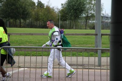 Buzz Lightyear was also running