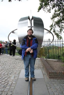 Stu on the Prime Meridian