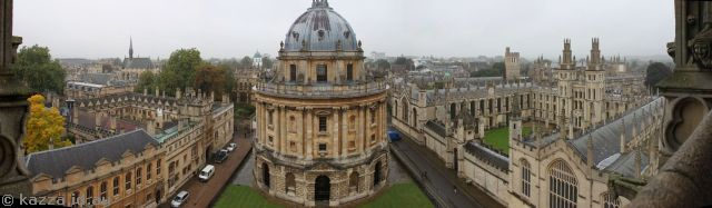 View of Oxford from the university church