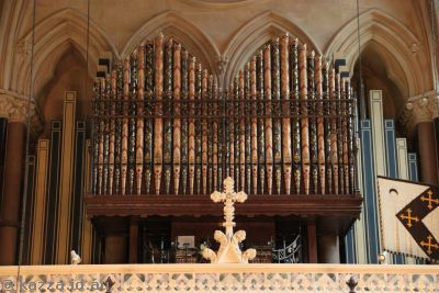 I love the detail on the organ of Exeter College chapel