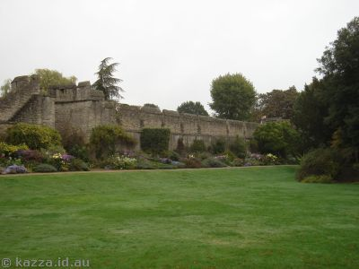 New College grounds including the old Oxford city wall