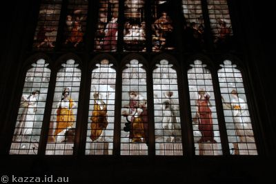 Beautiful stained glass in New College chapel