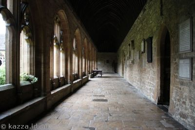 Cloister of New College featured in Harry Potter and the Goblet of Fire