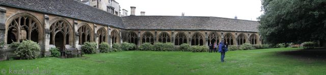 New College cloisters used in Goblet of Fire