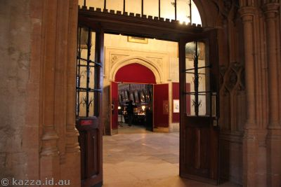 The real entrance to the Great Hall