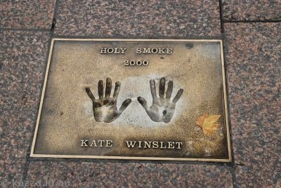 Kate Winslet's handprints at Leicester Square