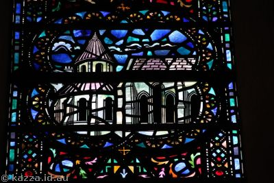 Temple Church in stained glass