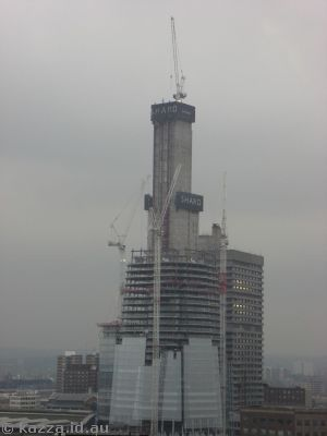 The Shard under construction