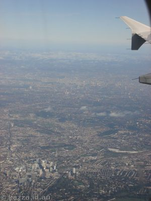 City of London from the plane