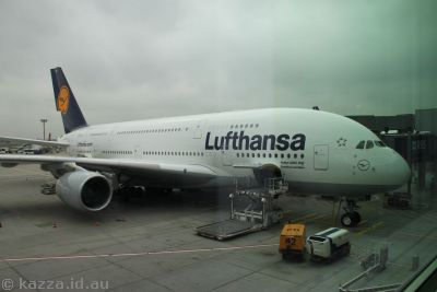 Our A380 - the first one Lufthansa purchased