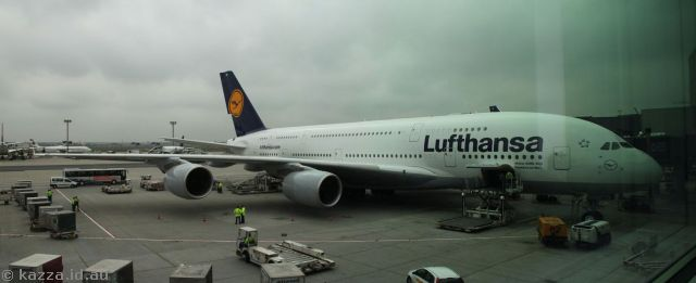 A380 at Frankfurt airport