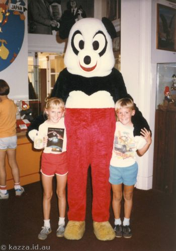 David and me with Andy Panda at Universal Studios