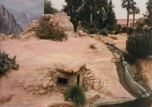 Desert scene from train at Knott's Berry Farm