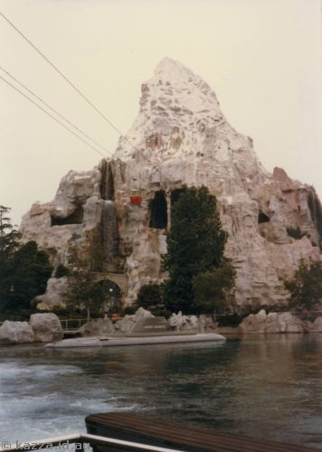 Submarine and Matterhorn at Disneyland