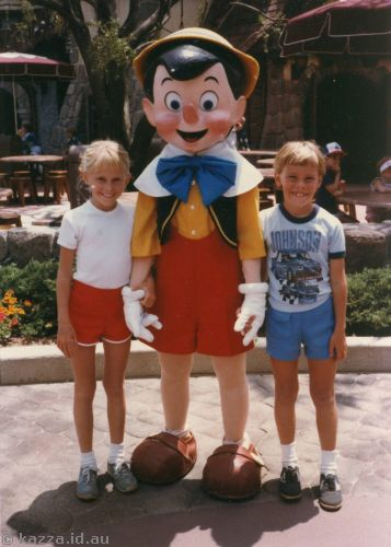 David and me with Pinocchio