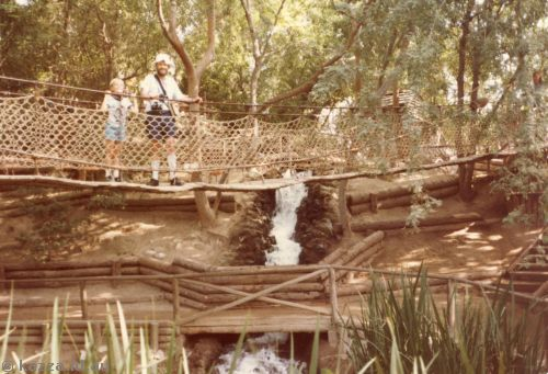 Suspension bridge on Tom Sawyer's Island