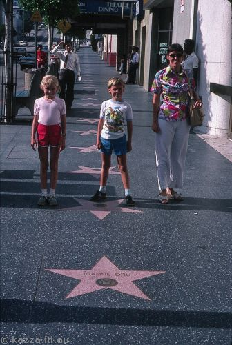 Stars at Hollywood and Vine (we should have found someone we'd actually heard of! This was Joanne Dru)
