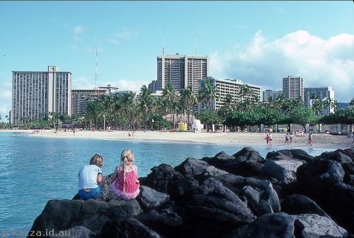 David and me at Waikiki
